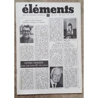 Revue Eléments n°13
