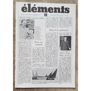 Revue Eléments n°16