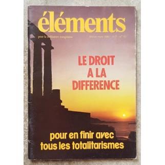 Revue Eléments n°33