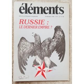 Revue Eléments n°57-58