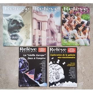 Relève politique (5 numéros)