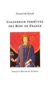 Calendrier perpétuel des Rois de France