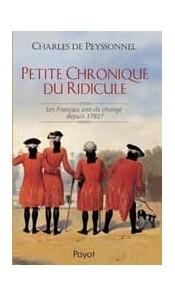 Petite Chronique du Ridicule. Les Français ont-ils changé depuis 1782 ?