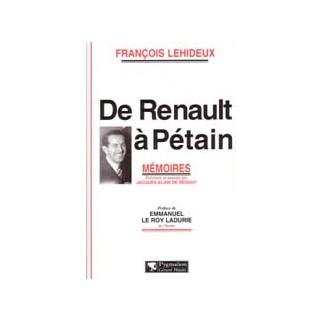 De Renault à Pétain