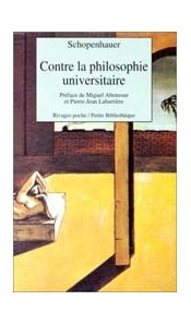 Contre la philosophie universitaire