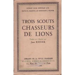 Trois scouts chasseurs de lions