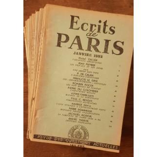 écrits de paris 1952