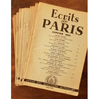 écrits de Paris 1951