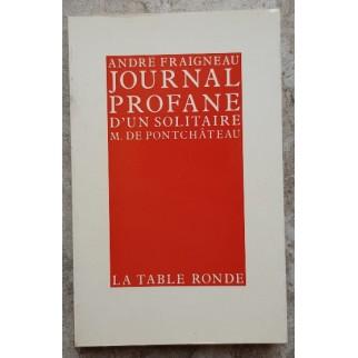 Journal profane d'un solitaire