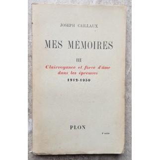 Mes mémoires 1912-1930