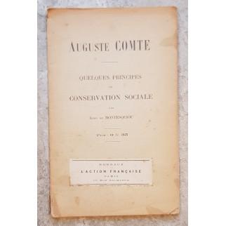 Auguste Comte. Quelques...