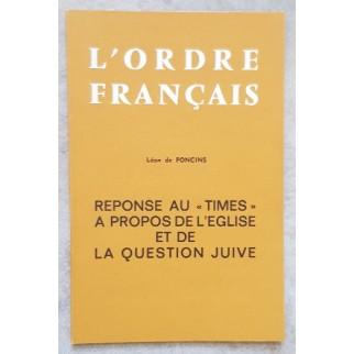 L'ordre français. Réponse...